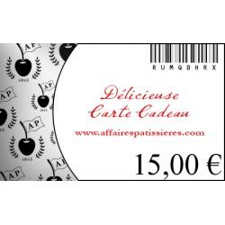 E-Carte Cadeau 15€ Affaires pâtissières