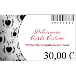 E-Carte Cadeau 30€ Affaires pâtissières