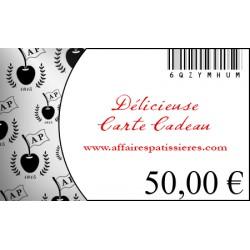 E-Carte Cadeau 50€ Affaires pâtissières