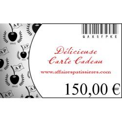 E-Carte Cadeau 150€ Affaires pâtissières