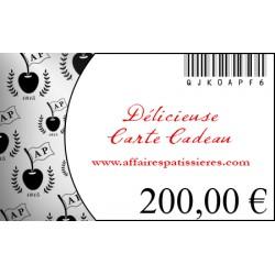 E-Carte Cadeau 200€ Affaires pâtissières