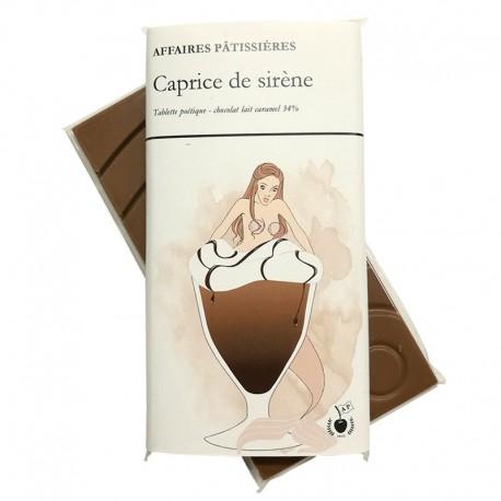 """Tablette """"Caprice de sirène"""" - lait caramel 34%"""