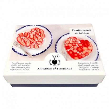 Coffret Double coeurs de fraisiers prêts à cuisiner