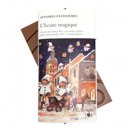 """Tablette """"L'heure magique"""" - Lait caramel 34%"""