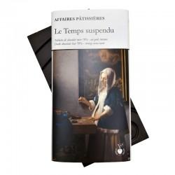 """Tablette """"Le Temps suspendu"""" - Noir intense 70%"""