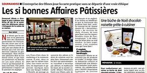 Les si bonnes Affaires pâtissières - Le Pays décembre 2017