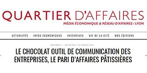 Quartier d'affaires Lyon - Le chocolat Affaires pâtissières comme outil de communication