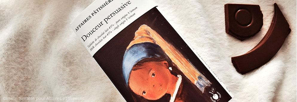 Douceur persuasive tablette illustrée par Nathalie Virot d'après Vermeer, La jeune fille à la perle