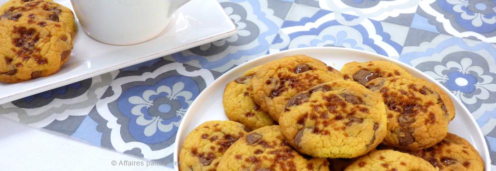 Cookies chocolat lait caramel, pas à pas