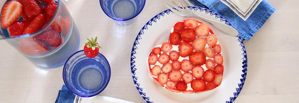 Dégustation du coeur de fraisier Affaires pâtissières