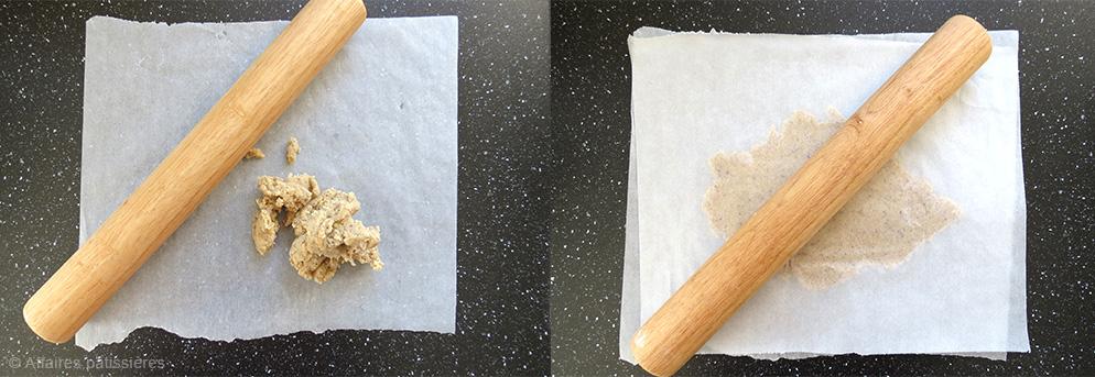 Préparation du croustillant noisette Affaires pâtissières