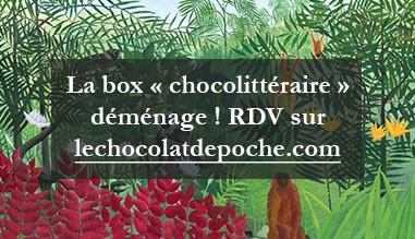 La box chocolittéraire déménage chez Le Chocolat de poche